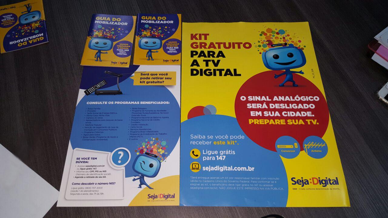Parceria entre Prefeitura e entidade Seja Digital distribuirá kits para recepção de sinal de TV digital