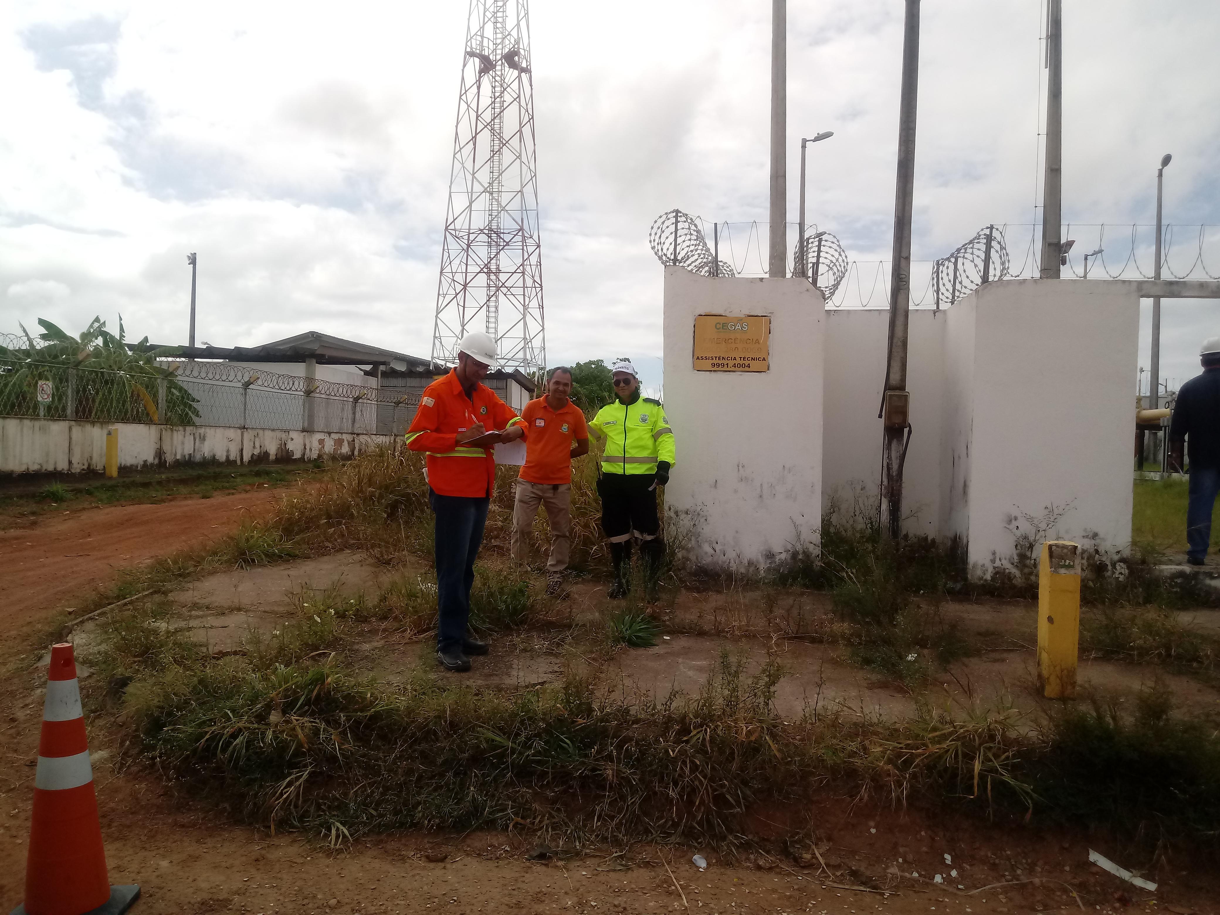 COMPDEC participa de simulado de emergência realizado pela Cegás