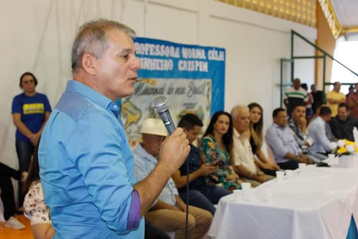 Prefeitura inaugura 30ª Quadra Poliesportiva na Escola Norma Célia Pinheiro Crispim