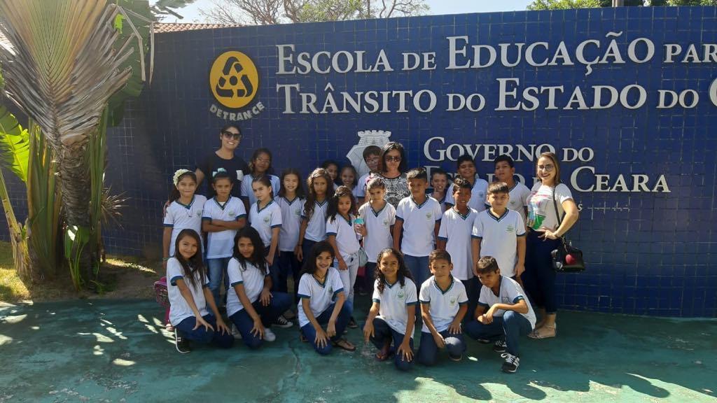 Estudantes da Escola José Assis de Oliveira visitam Escola de Educação para o Trânsito do Detran