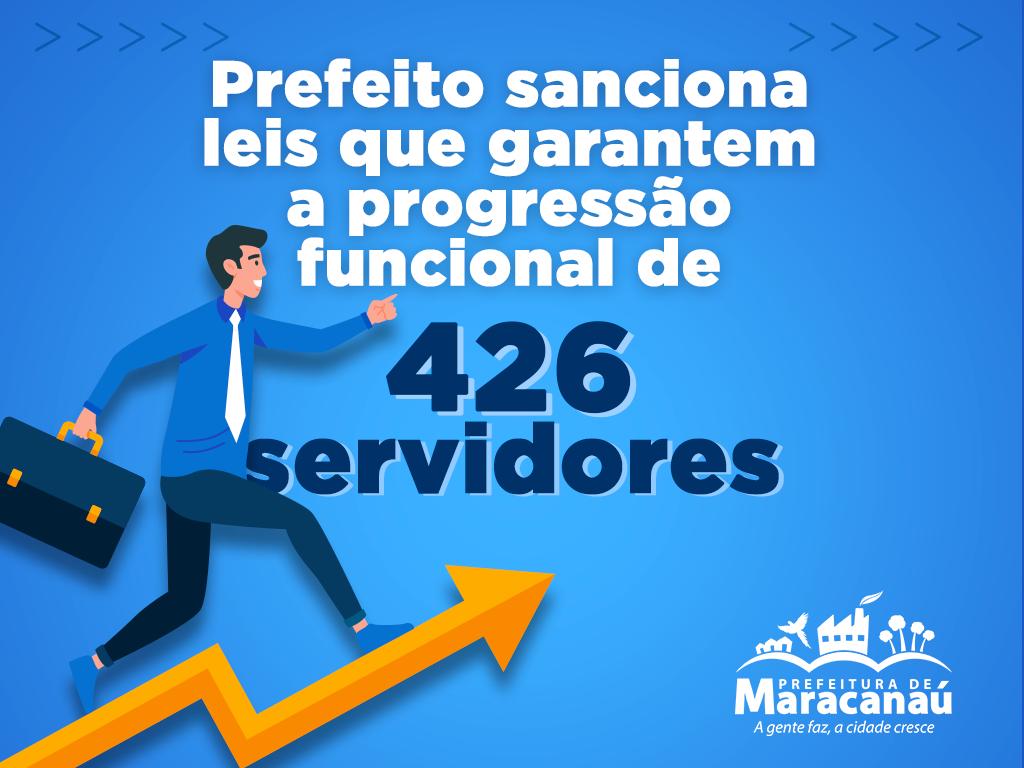 Prefeito sanciona lei que beneficia 426 servidores com progressão funcional