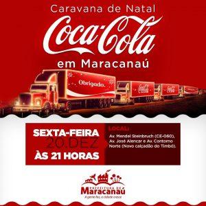 Maracanaú receberá Caravana iluminada da Coca-Cola nesta sexta-feira, 20