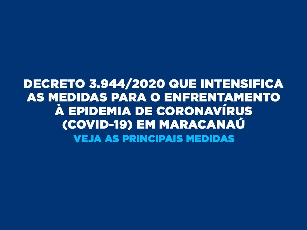 Prefeito Firmo Camurça assina decreto que intensifica as medidas para o enfrentamento ao Coronavírus em Maracanaú
