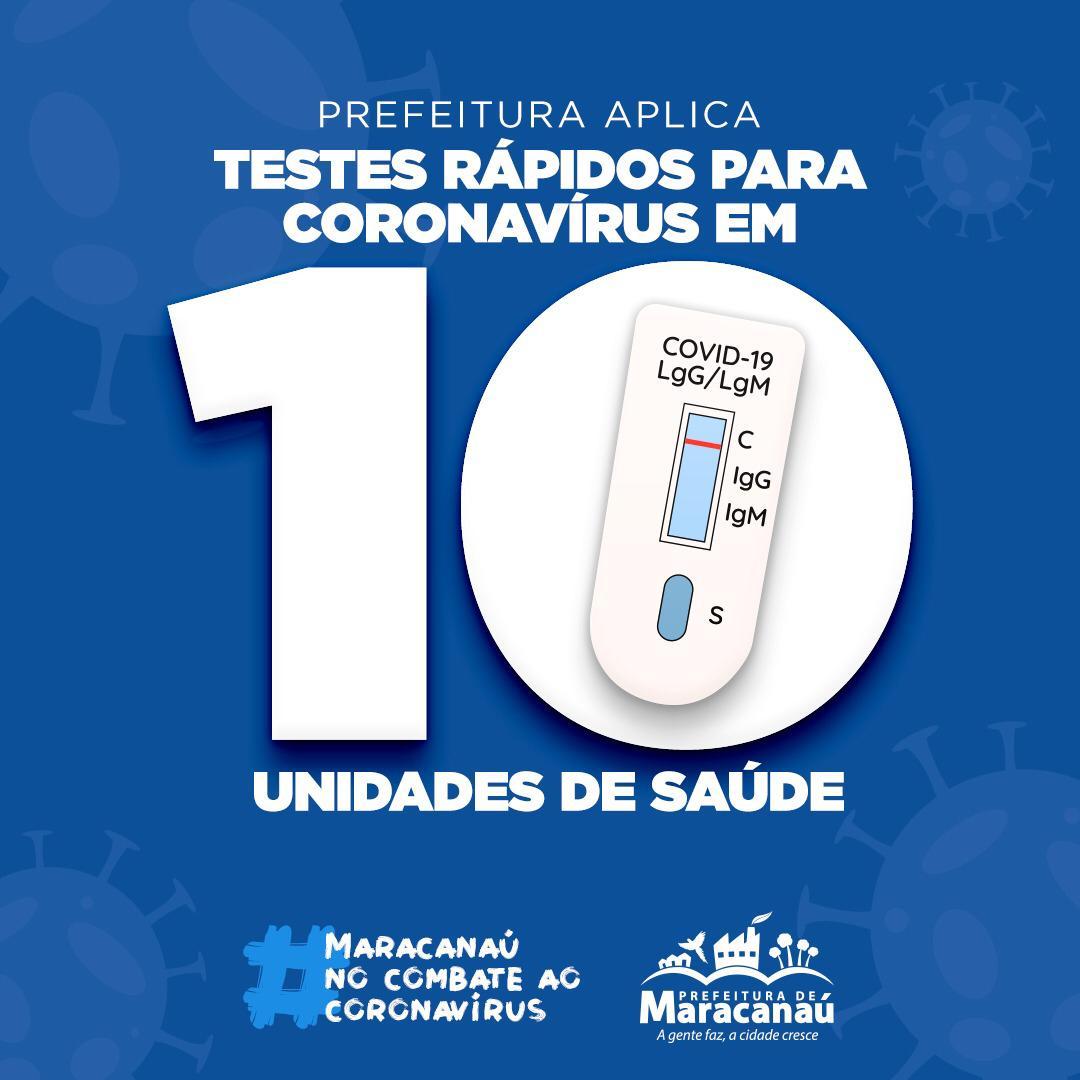 Testes rápidos para Coronavírus são aplicados em 10 unidades de saúde de Maracanaú