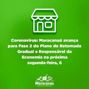 Coronavírus: Maracanaú avança para Fase 2 do Plano de Retomada Gradual e Responsável da Economia na próxima segunda-feira, 6