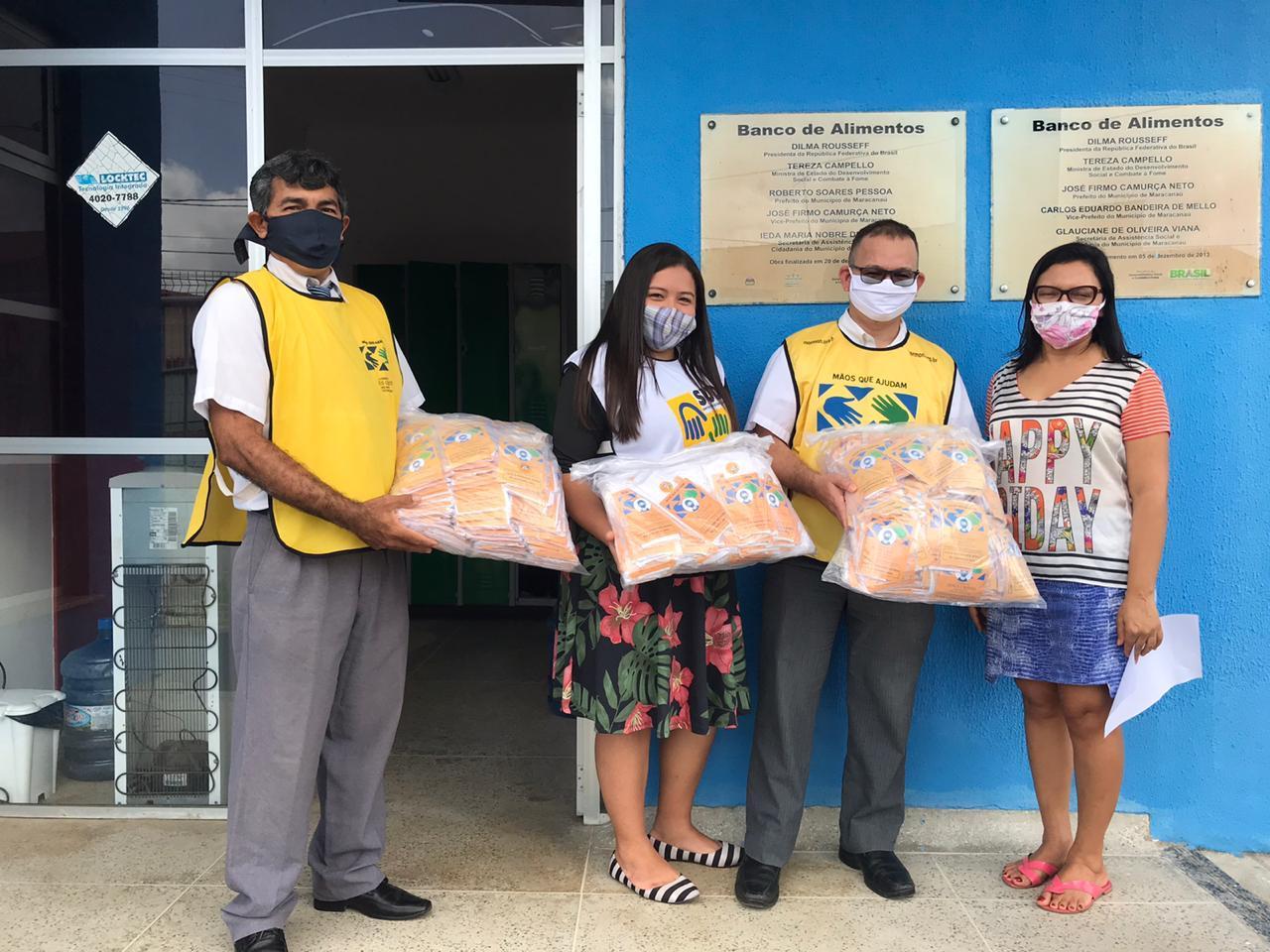 """Prefeitura recebe doação de 5 mil máscaras do Projeto """"Mãos que ajudam salvando vidas"""""""
