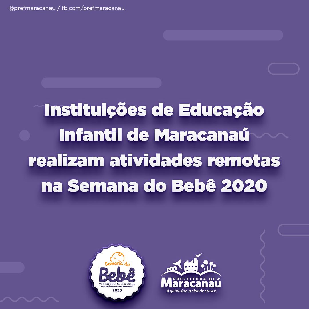 Read more about the article Instituições de Educação Infantil de Maracanaú realizam atividades remotas na Semana do Bebê 2020