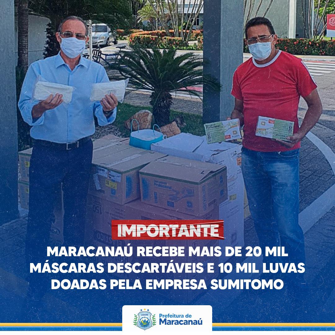 You are currently viewing Maracanaú recebe mais de 20 mil máscaras descartáveis e 10 mil luvas doadas pela empresa Sumitomo