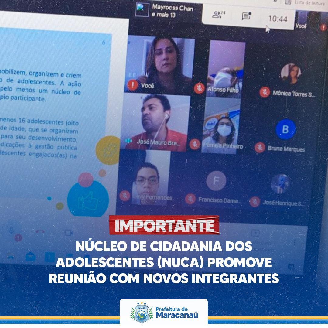 Read more about the article Núcleo de Cidadania dos Adolescentes (NUCA) promove reunião com novos integrantes