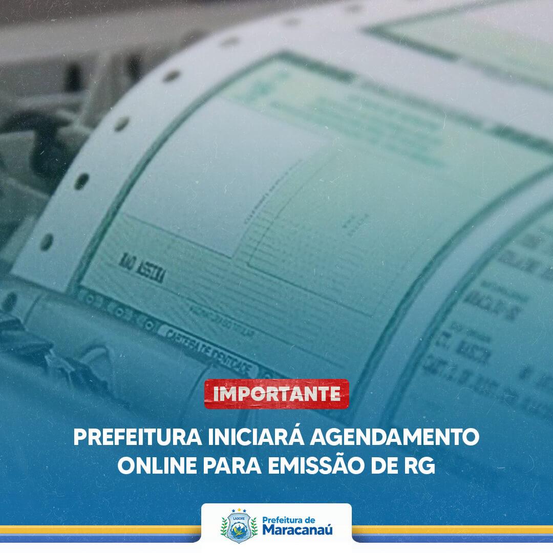 Read more about the article Prefeitura iniciará agendamento online para emissão de RG