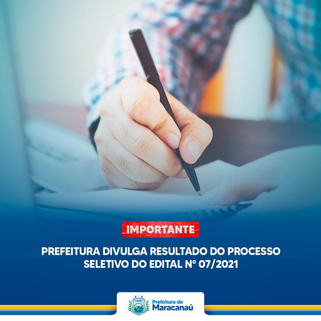 Read more about the article Prefeitura divulga resultado do processo seletivo do Edital N° 07/2021